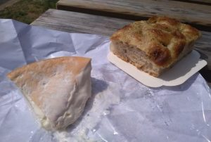 Parada para queso y pan en Francia.