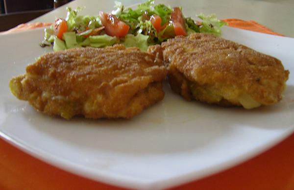 Pechugas de pollo rellenas de queso.