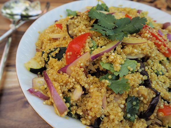 Receta de quinoa con verduras.