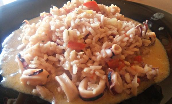 arroz queso ahumado