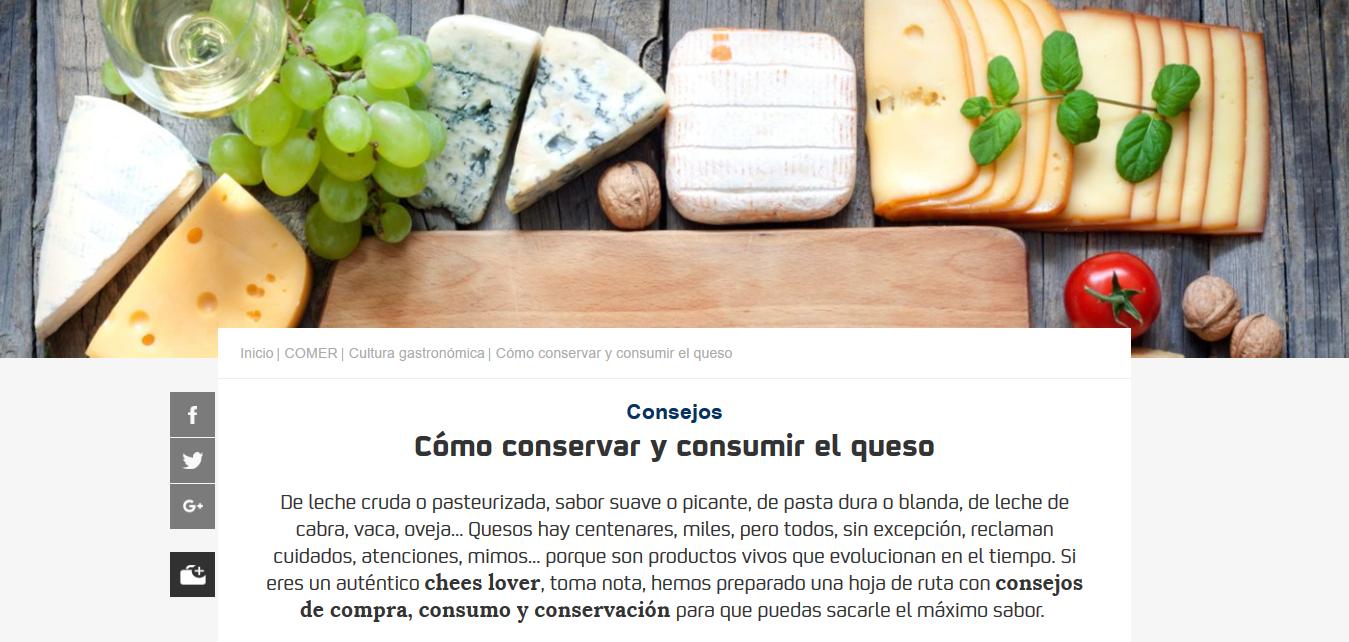 Consejos sobre queso Guía Repsol.