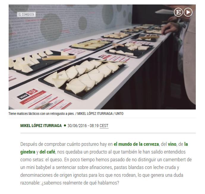 Vídeo sobre queso de El Comidista.