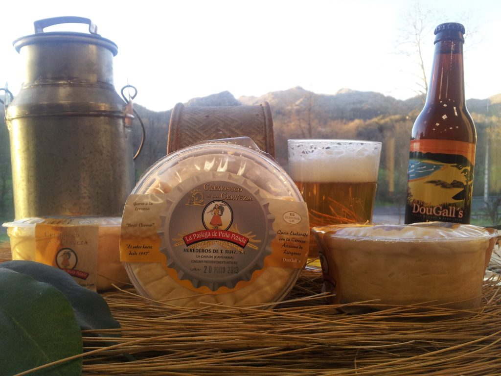 Queso a la cerveza de Cantabria.